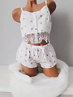 Пижама женская комплект для сна хлопчатобумажные  майка и шорты