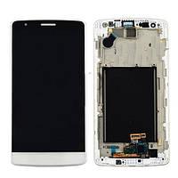 Дисплей LG D724, D722, D725, D728 G3 mini + сенсор белый оригинал + рамка