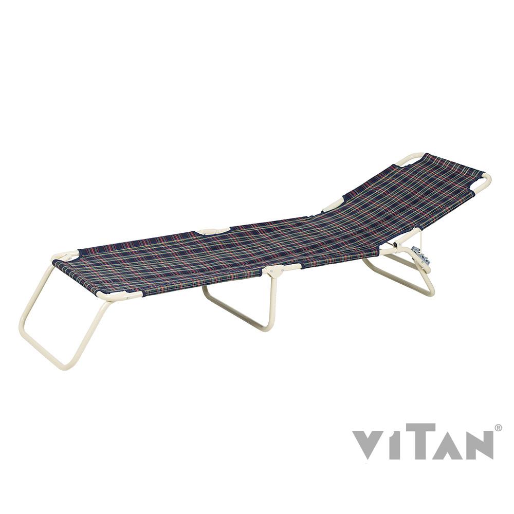 """Раскладушка Витан """"Диагональ Шотландка"""" d22 мм (утепленная синтепоном)"""