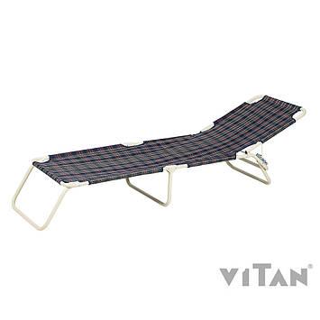 """Раскладушка Витан """"Диагональ Шотландка"""" d22 мм (утепленная синтепоном), фото 2"""