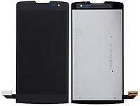 Дисплей LG H320 Leon Y50, H324 Leon Y50, H340 Leon + сенсор чёрный + рамка