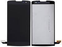 Дисплей LG H320 Leon Y50, H324 Leon Y50, H340 Leon + сенсор чёрный оригинал + рамка