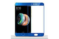 Защитное стекло Xiaomi MI Note 3 синее 2.5D Full Screen (тех упаковка)