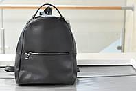 Женский черный кожаный рюкзак 8988
