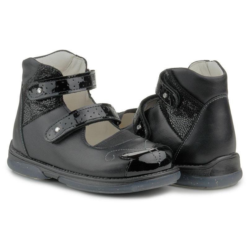 f24d42aa960d7a Ортопедические туфли для девочек Memo Princessa 3LY Черные -  LoveLand-Маркет Здравого Смысла в Киеве