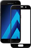Защитное стекло Samsung A520, A5 (2017) чёрное 5D (тех упаковка)