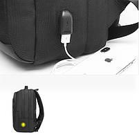 Спортивный дорожный рюкзак Arctic Hunter B00289, с тремя отделениями и USB портом, 28л, фото 5