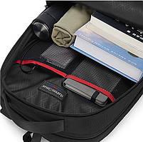 Спортивный дорожный рюкзак Arctic Hunter B00289, с тремя отделениями и USB портом, 28л, фото 10