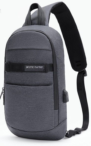 Однолямочный влагозащищённый рюкзак через плечо Arctic Hunter XB00079, 5л