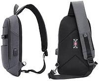 Однолямочный влагозащищённый рюкзак через плечо Arctic Hunter XB00079, 5л, фото 2