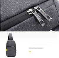 Однолямочный влагозащищённый рюкзак через плечо Arctic Hunter XB00079, 5л, фото 3