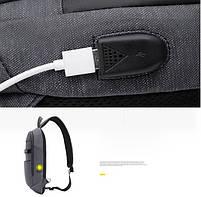 Однолямочный влагозащищённый рюкзак через плечо Arctic Hunter XB00079, 5л, фото 4