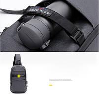 Однолямочный влагозащищённый рюкзак через плечо Arctic Hunter XB00079, 5л, фото 5