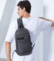 Однолямочный влагозащищённый рюкзак через плечо Arctic Hunter XB00079, 5л, фото 8