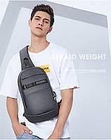 Однолямочный влагозащищённый рюкзак через плечо Arctic Hunter XB00079, 5л, фото 9