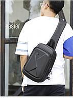 Стильный однолямочный рюкзак Arctic Hunter XB00080, влагозащищённый, 5л, фото 9