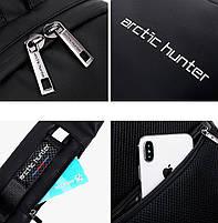 Стильный однолямочный рюкзак Arctic Hunter XB00081, влагозащищённый, 5л, фото 6