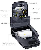 Классический рюкзак для ноутбука Arctic Hunter B00251, влагозащищённый, с USB портом, 21л, фото 7