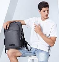 Классический рюкзак для ноутбука Arctic Hunter B00251, влагозащищённый, с USB портом, 21л, фото 10