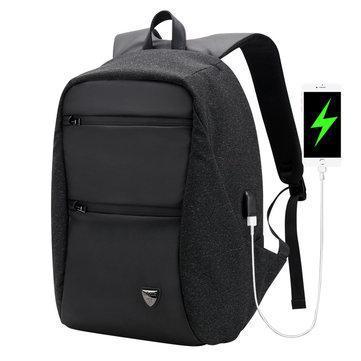Модный городской рюкзак с конструкцией  дюймовантивор дюймов и USB портом Arctic Hunter B00207, 26л