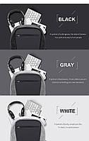 Модный городской рюкзак с конструкцией  дюймовантивор дюймов и USB портом Arctic Hunter B00207, 26л, фото 3