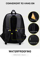 Модный городской рюкзак с конструкцией  дюймовантивор дюймов и USB портом Arctic Hunter B00207, 26л, фото 5