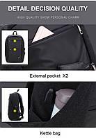 Модный городской рюкзак с конструкцией  дюймовантивор дюймов и USB портом Arctic Hunter B00207, 26л, фото 6