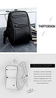 Модный городской рюкзак с конструкцией  дюймовантивор дюймов и USB портом Arctic Hunter B00207, 26л, фото 9