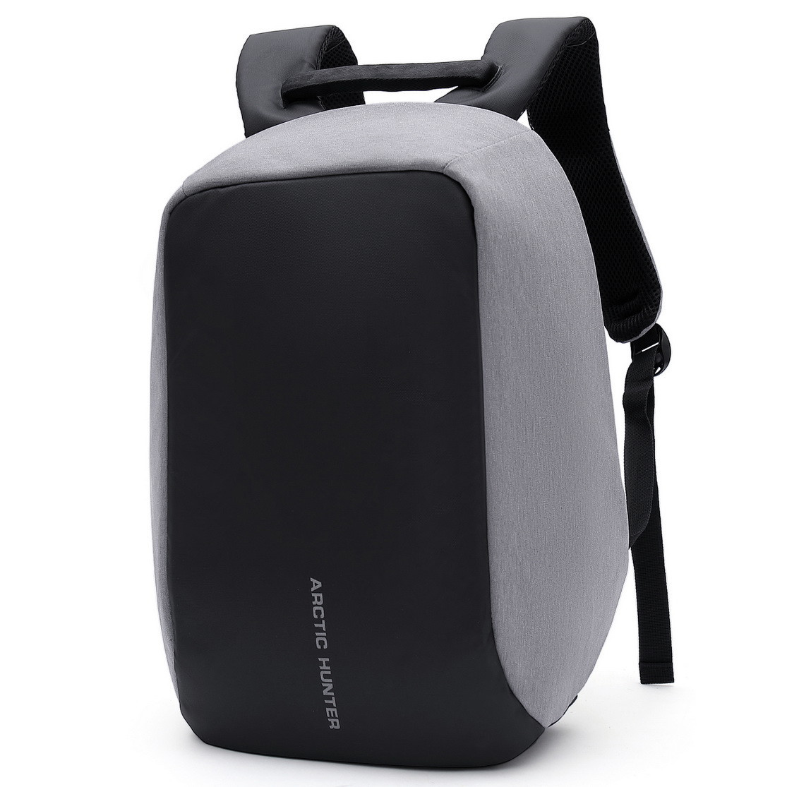 Молодёжный городской рюкзак с конструкцией  и USB портом Arctic Hunter 1590, 20л Светло-серый