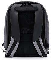 Молодёжный городской рюкзак с конструкцией  и USB портом Arctic Hunter 1590, 20л Светло-серый, фото 4