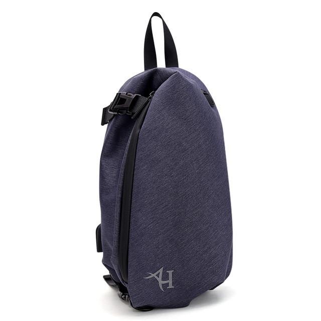Модный небольшой однолямочный рюкзак-мешок Arctic Hunter XB00045, влагозащищённый, 6л Синий