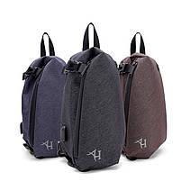 Модный небольшой однолямочный рюкзак-мешок Arctic Hunter XB00045, влагозащищённый, 6л Синий, фото 2