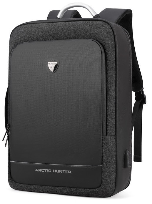 Деловой бизнес-рюкзак для ноутбука 15,6-17 дюймов и планшета 9,7 дюймов Arctic Hunter B00227, 25л