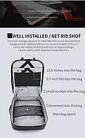 Деловой бизнес-рюкзак для ноутбука 15,6-17 дюймов и планшета 9,7 дюймов Arctic Hunter B00227, 25л, фото 3