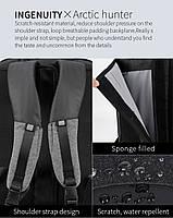 Деловой бизнес-рюкзак для ноутбука 15,6-17 дюймов и планшета 9,7 дюймов Arctic Hunter B00227, 25л, фото 4