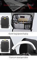 Деловой бизнес-рюкзак для ноутбука 15,6-17 дюймов и планшета 9,7 дюймов Arctic Hunter B00227, 25л, фото 6
