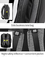 Деловой бизнес-рюкзак для ноутбука 15,6-17 дюймов и планшета 9,7 дюймов Arctic Hunter B00227, 25л, фото 7