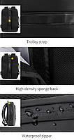 Деловой бизнес-рюкзак для ноутбука 15,6-17 дюймов и планшета 9,7 дюймов Arctic Hunter B00227, 25л, фото 8