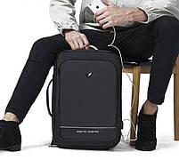 Деловой бизнес-рюкзак для ноутбука 15,6-17 дюймов и планшета 9,7 дюймов Arctic Hunter B00227, 25л, фото 9