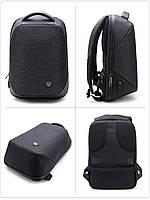 Стильный влагозащищённый дизайнерский рюкзак для бизнеса и путешествий Arctic Hunter B00193, 22л, фото 2