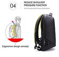 Стильный влагозащищённый дизайнерский рюкзак для бизнеса и путешествий Arctic Hunter B00193, 22л, фото 4