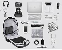 Стильный влагозащищённый дизайнерский рюкзак для бизнеса и путешествий Arctic Hunter B00193, 22л, фото 6