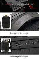 Стильный влагозащищённый дизайнерский рюкзак для бизнеса и путешествий Arctic Hunter B00216, 22л, фото 5