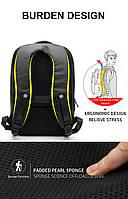Стильный влагозащищённый дизайнерский рюкзак для бизнеса и путешествий Arctic Hunter B00216, 22л, фото 6