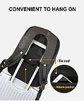 Стильный влагозащищённый дизайнерский рюкзак для бизнеса и путешествий Arctic Hunter B00216, 22л, фото 8