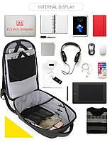 Стильный влагозащищённый дизайнерский рюкзак для бизнеса и путешествий Arctic Hunter B00216, 22л, фото 9