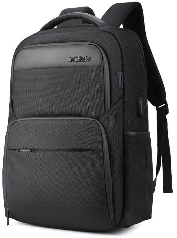 Классический дорожный рюкзак для ноутбука до 15,6 дюймов Arctic Hunter B00113С, влагозащищённый, с USB портом, 28л