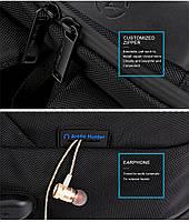 Классический дорожный рюкзак для ноутбука до 15,6 дюймов Arctic Hunter B00113С, влагозащищённый, с USB портом, 28л, фото 4