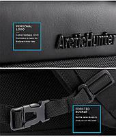 Классический дорожный рюкзак для ноутбука до 15,6 дюймов Arctic Hunter B00113С, влагозащищённый, с USB портом, 28л, фото 5