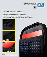 Классический дорожный рюкзак для ноутбука до 15,6 дюймов Arctic Hunter B00113С, влагозащищённый, с USB портом, 28л, фото 8